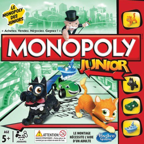 Hasbro Gaming Monopoly Junior Juego De Mesa Version En Frances