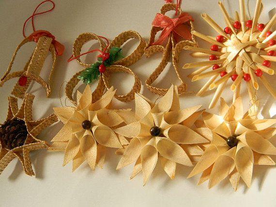 Corn Husk And Straw Ornaments Very Swedish Straw Crafts Diy Christmas Ornaments Christmas Ornaments