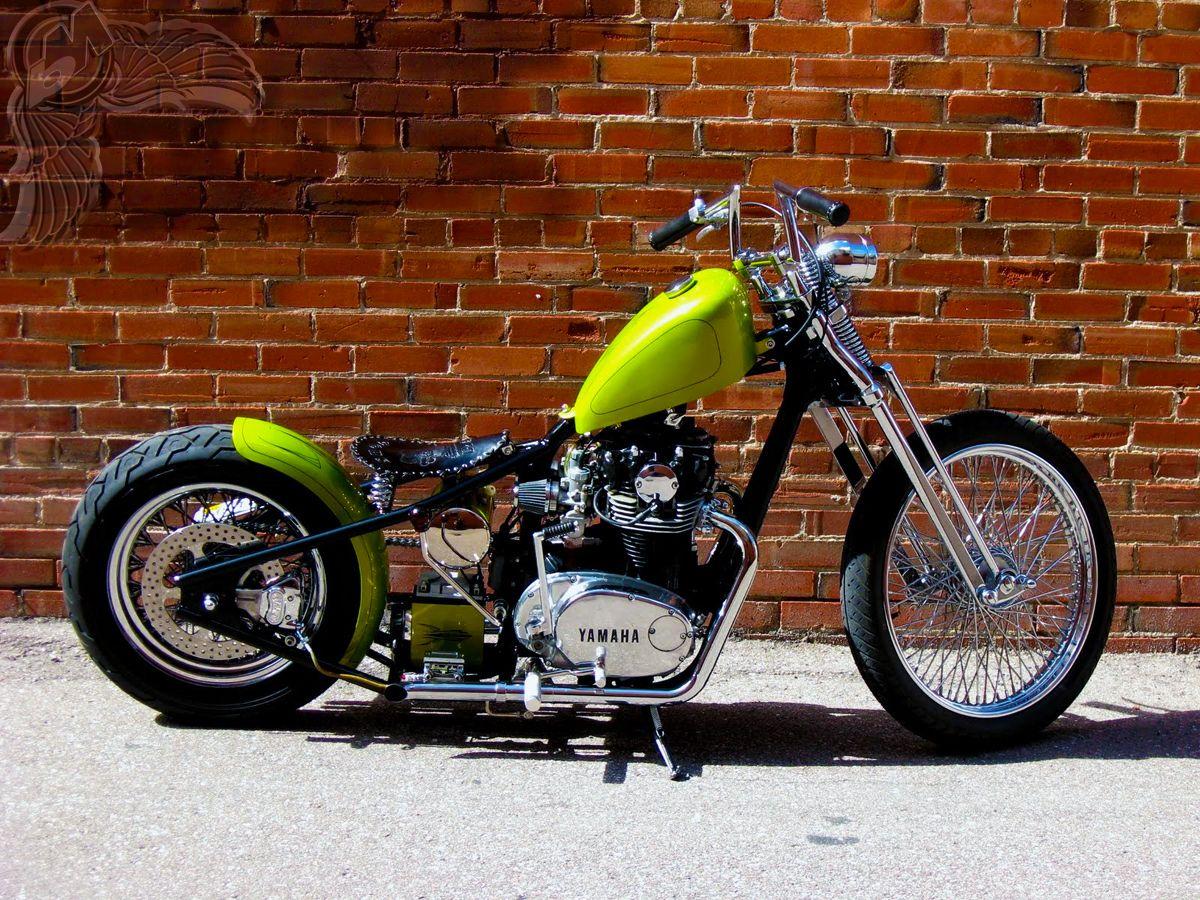 lime green 1978 xs650 bobber bikes pinterest bobbers