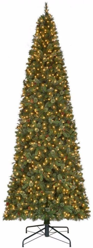 Pre-Lit Pine Artificial Christmas Tree with 1450 Low Voltage Warm