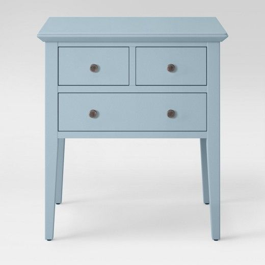 3 Drawer End Table Acoustic Aqua Threshold End Tables Small Entryway Table Entry Furniture