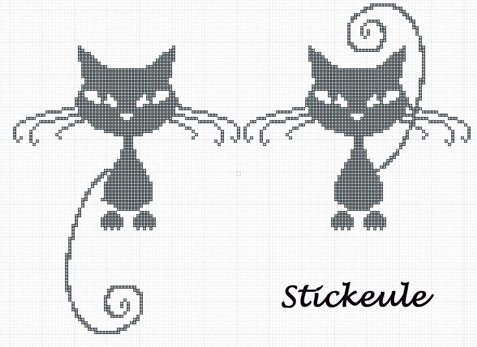 schwarze+kätzchen2.jpg 1,600×1,165 pixels   1 Animal Stitch ...