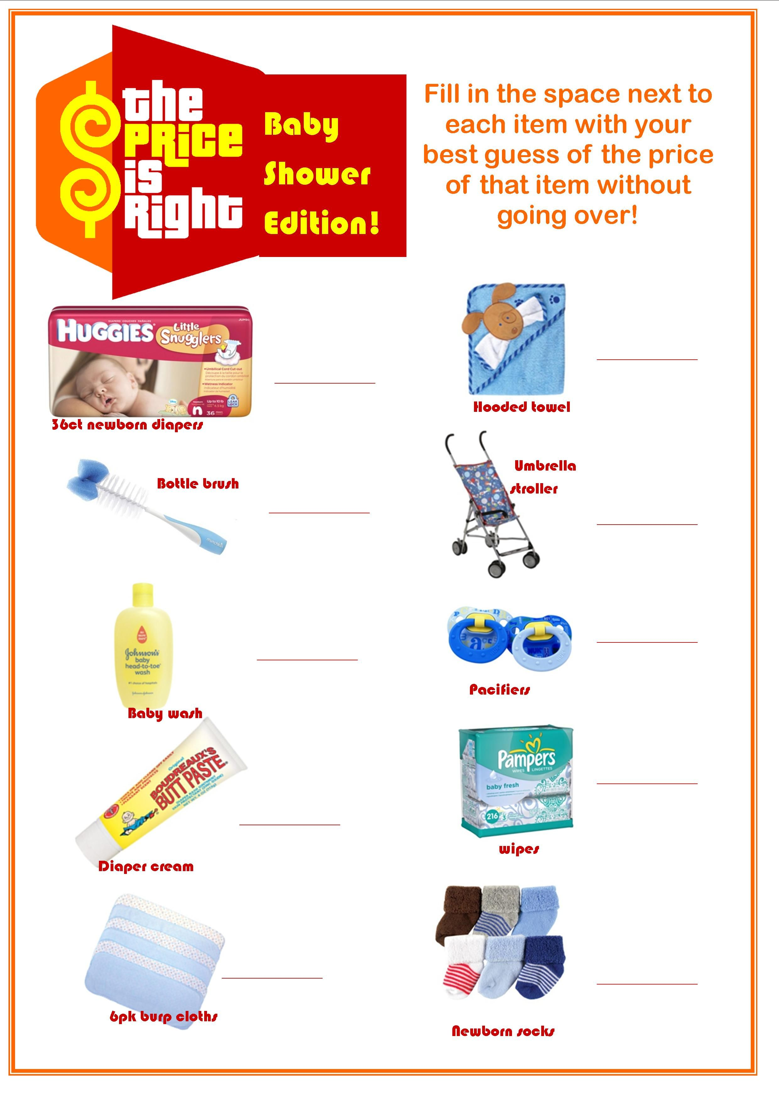 Baby Shower Price Is Right Answer Key : shower, price, right, answer, Nicole, Hartley, Shower, Funny,, Games,, Funny, Games