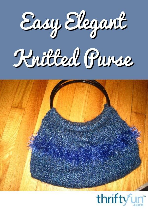 Easy Elegant Knitted Purse | Purses, Knitting projects ...