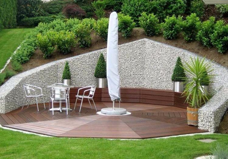 Mur et cl ture gabion id es pour le jardin en 33 photos for Muret bois jardin