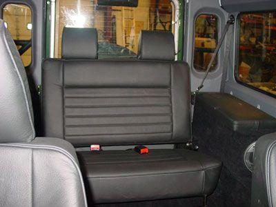 Defender 90 Interior Foldable Bench Seating Re Radio