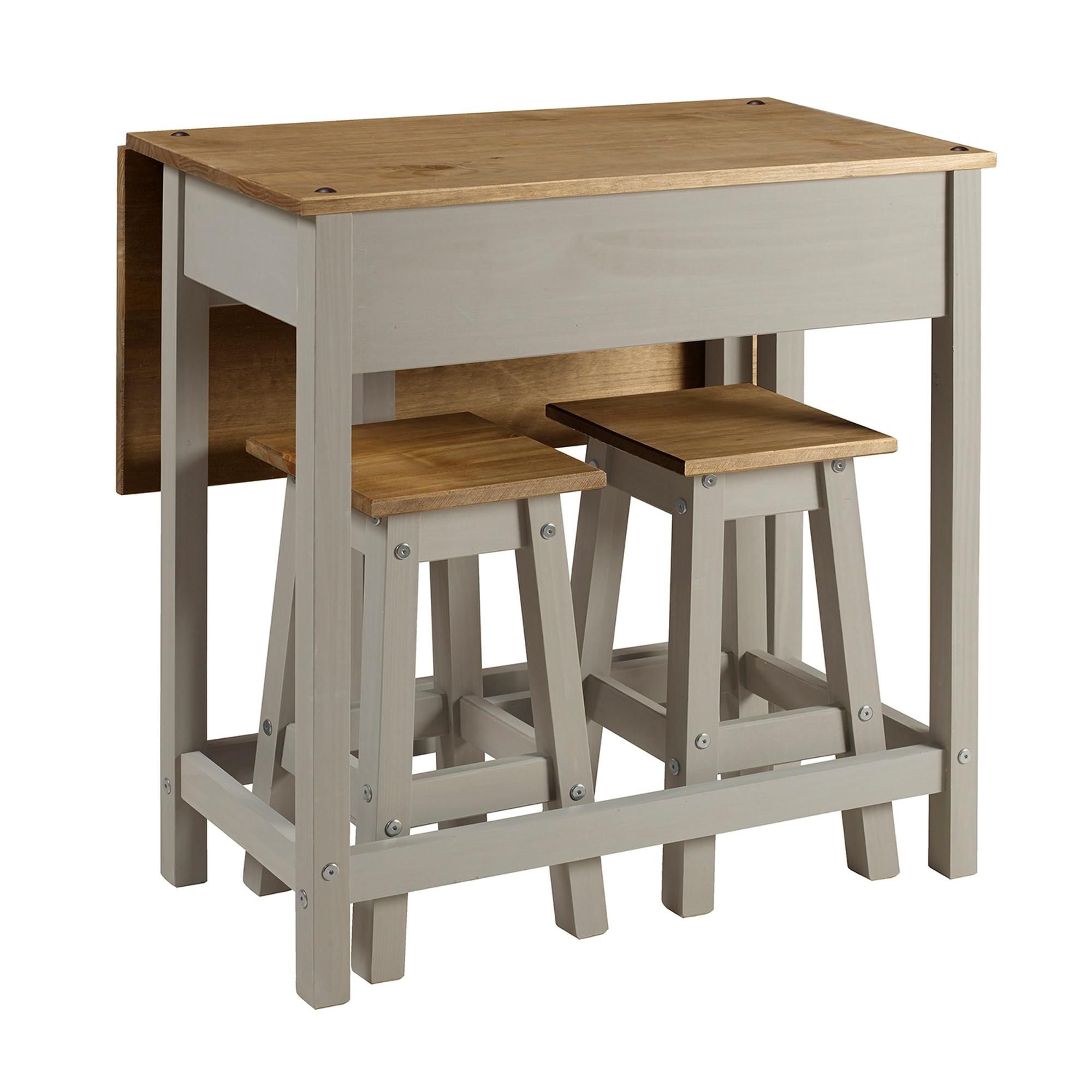 Corona Grey Drop Leaf Table Dining Set With Images Drop Leaf