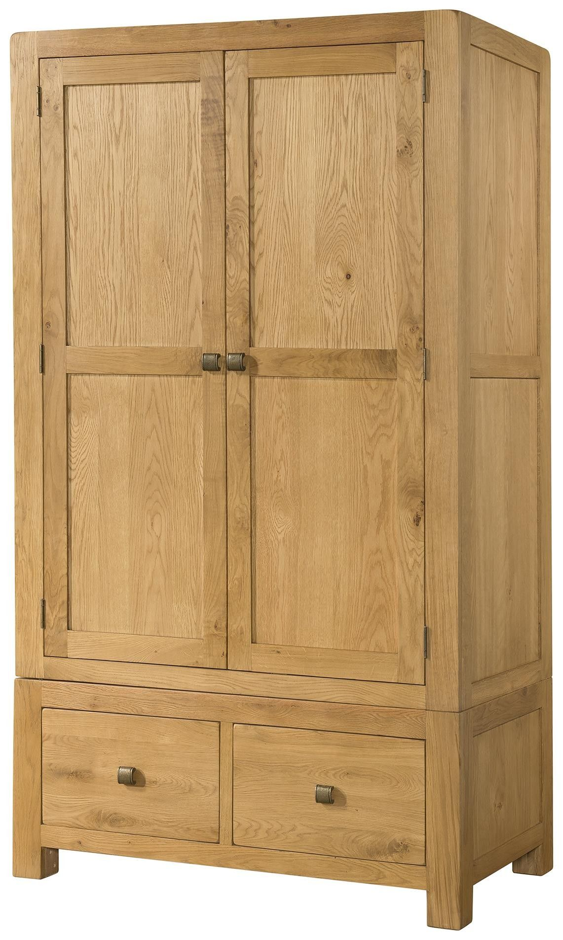 Schrankbetten Bei Otto Radford Oak Double Wardrobe With 2 Drawers To Build Oak
