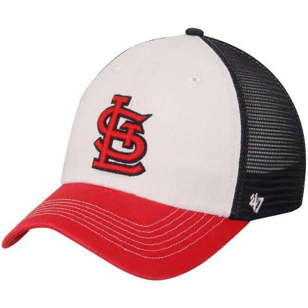 St. Louis Cardinals '47 McKinley Closer Flex Hat - White/Red - $27.99