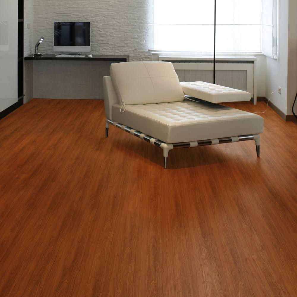 Trafficmaster Allure Contract 6 In X 36 In Sapelli Red