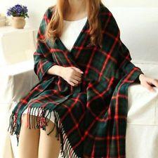Winter Women Lady Neck Warm Tartan Check Shawl Scarf Wrap Stole Plaid Pashmina