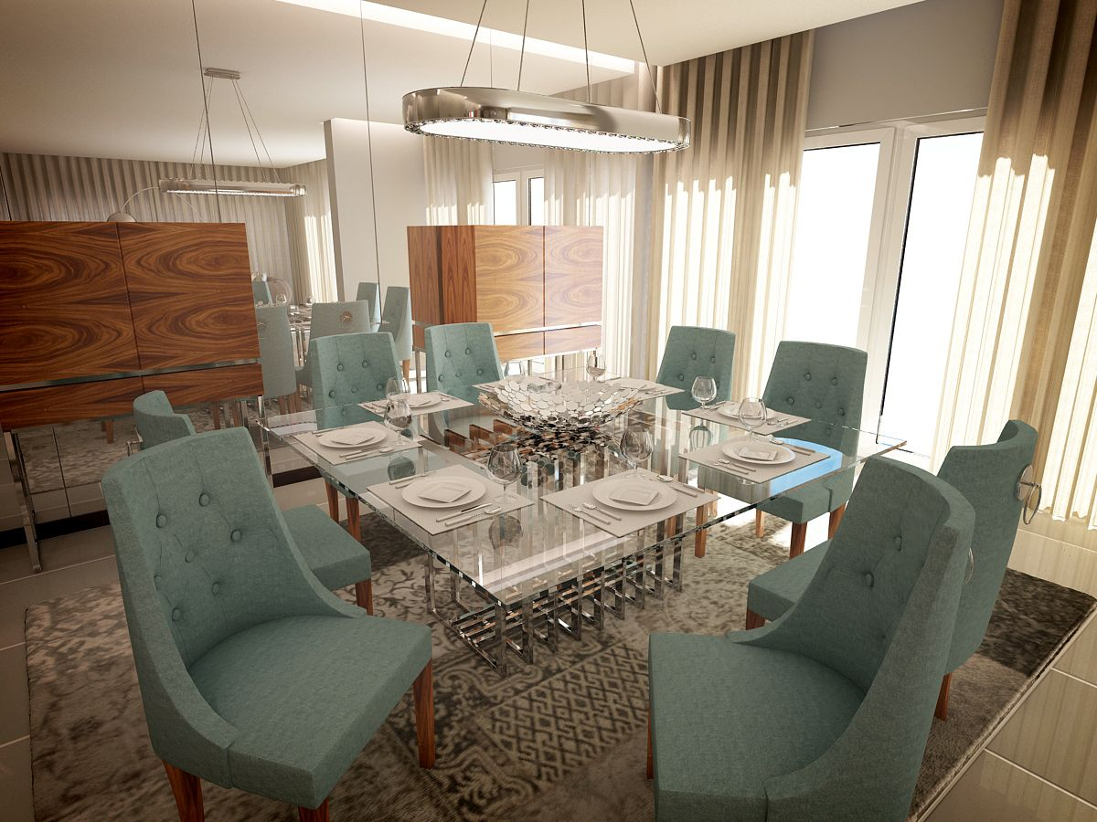 laskasas residential project in angola dining room featuring room