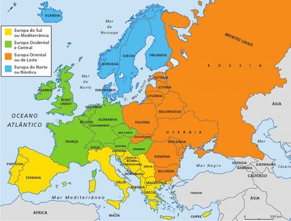 Mapa Da Europa Conheca Todos Os Paises Da Europa E Suas