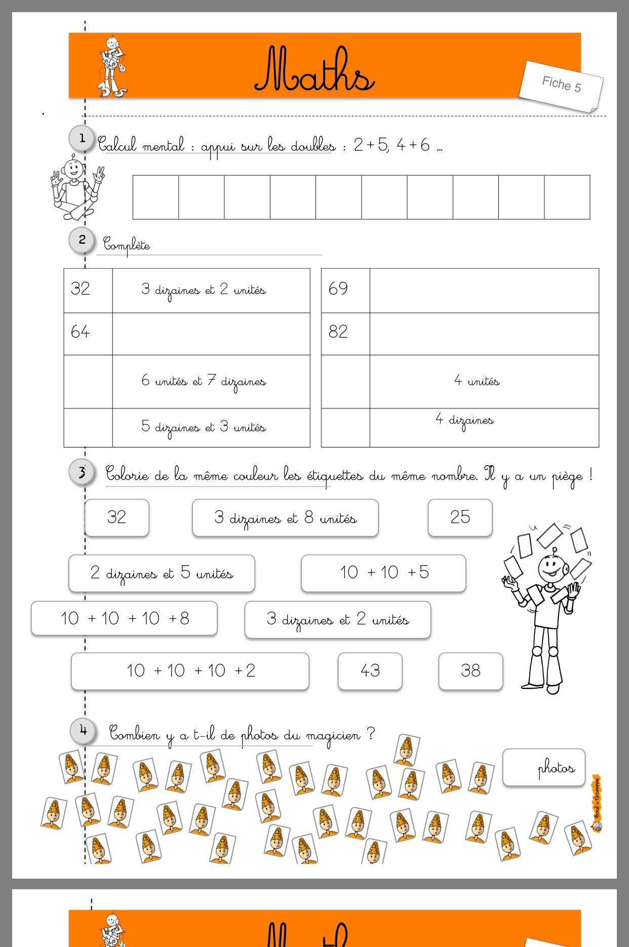 Image Exercice math ce1 de Agnès Manach du tableau Ce1 | Maths ce1, Calcul ce1