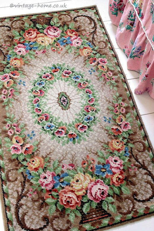 Vintage Home Shop Gorgeous 1930s Wool Rug With Victorian