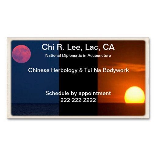Moon & Sun Business Card