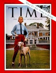 """CZ Guest with her dog on the cover of Time magazine. Article, """"What it's like in Society Today""""."""