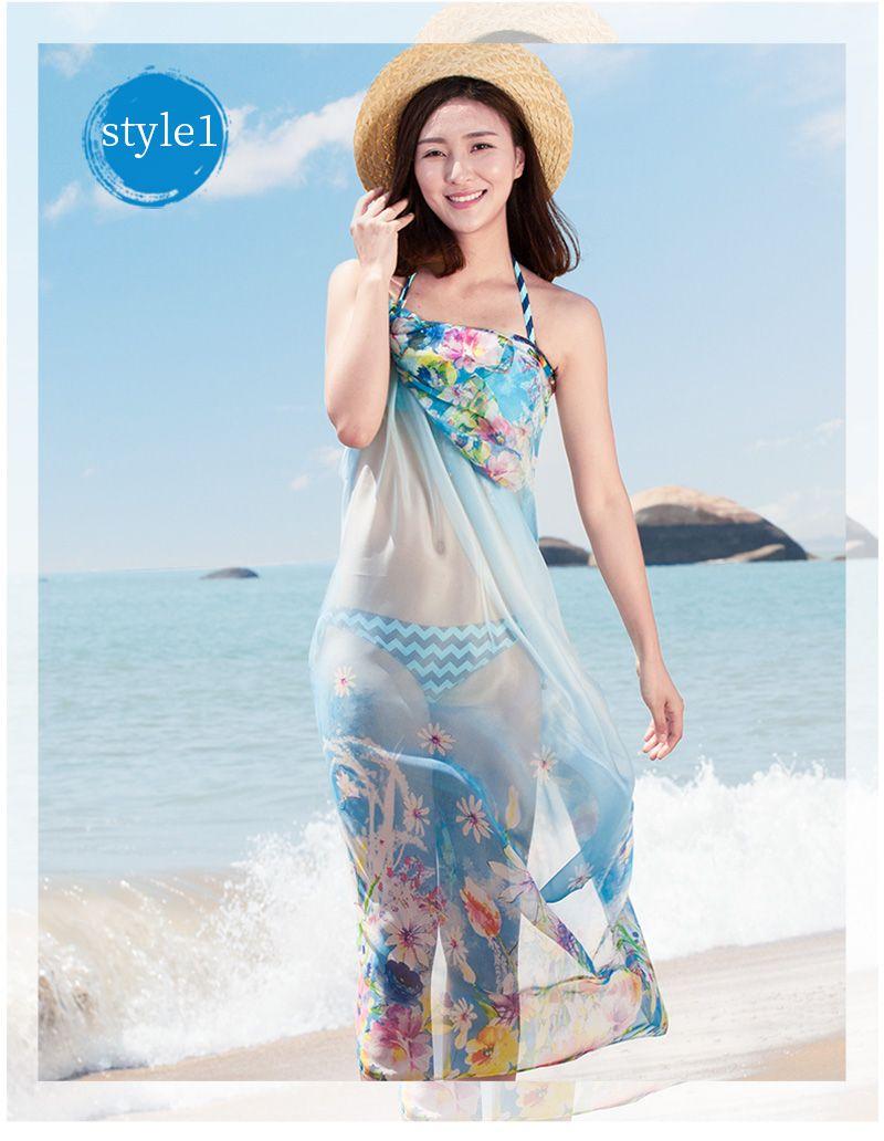 9469ae4eb8286 200 140cm 2017 Summer Print Silk Scarf Oversized Chiffon Scarf Women Pareo  Beach Cover Up Wrap Sarong Sunscreen Long Cape Female