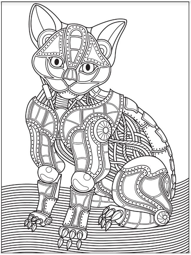 Robot | Colorish: free coloring app for adults by ...