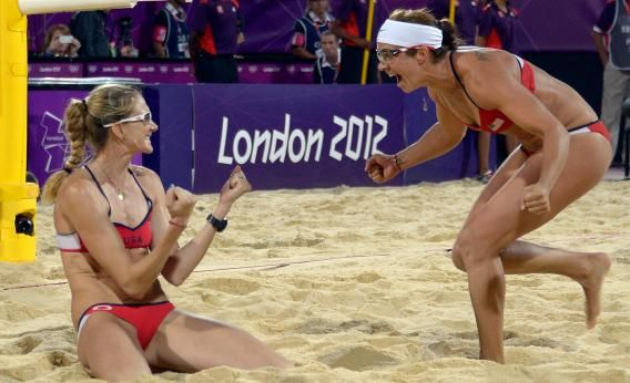 While You Were Staring At Their Butts Misty May Treanor And Kerri Walsh Jennings Just Won Their Third Gold Medal Kerri Walsh Jennings Kerri Walsh Misty May Treanor