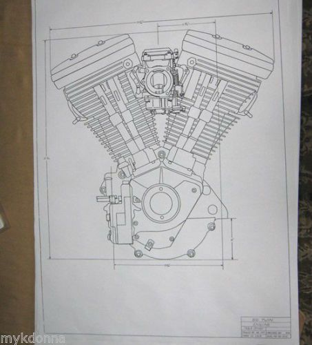 USA Patent Harley Davidson - V-Twin Engine Drawings Harley - copy draw blueprint online free