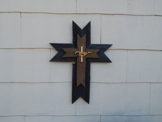 Check out this item in my Etsy shop https://www.etsy.com/listing/207795346/rustic-wood-cross-weathered-wood-wall