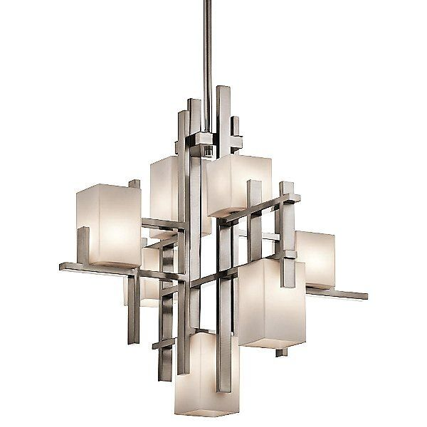 Metropolis 2 Light Unique Statement Geometric Chandelier Vozeli Com