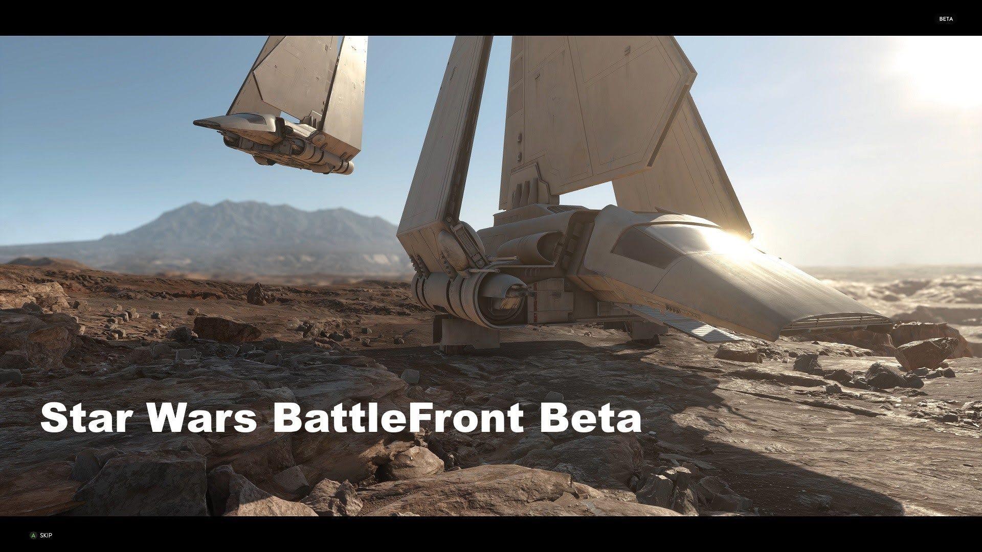 Star wars Battlefront Beta Survival of Tatooine  [4K]