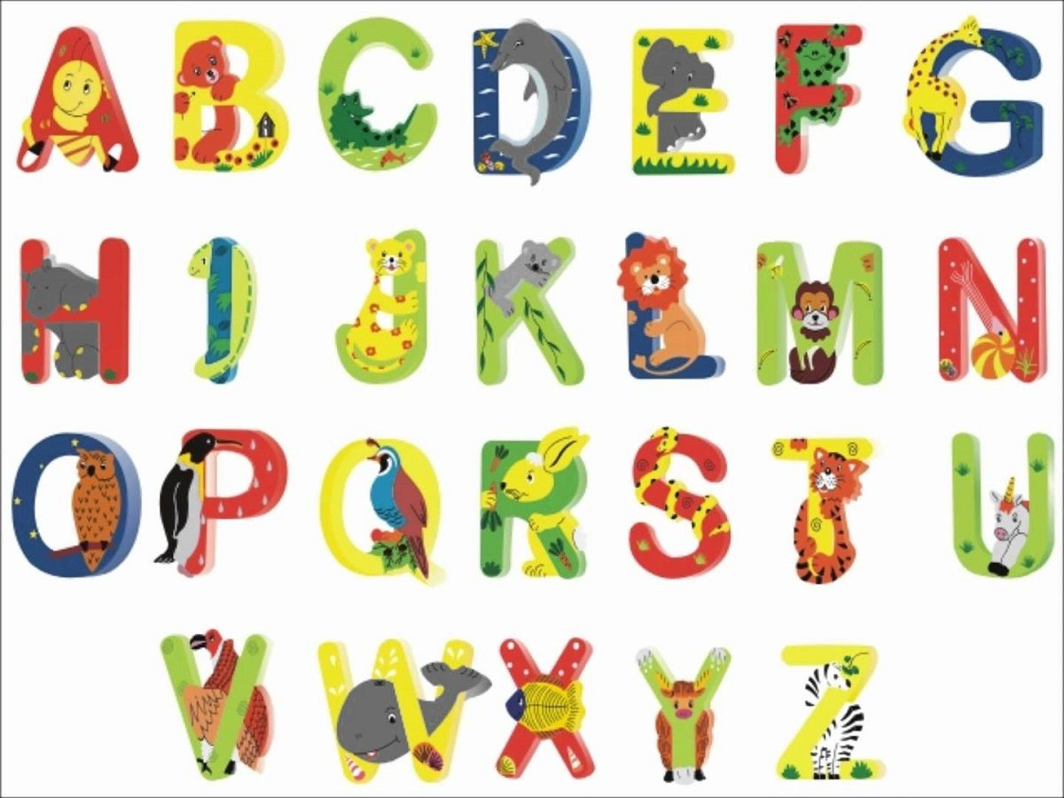 Animal Shaped Letters For Kids Free