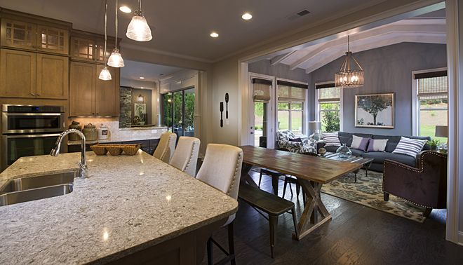 John Wieland Homes And Neighborhoods Kitchen Open To Den Ceiling