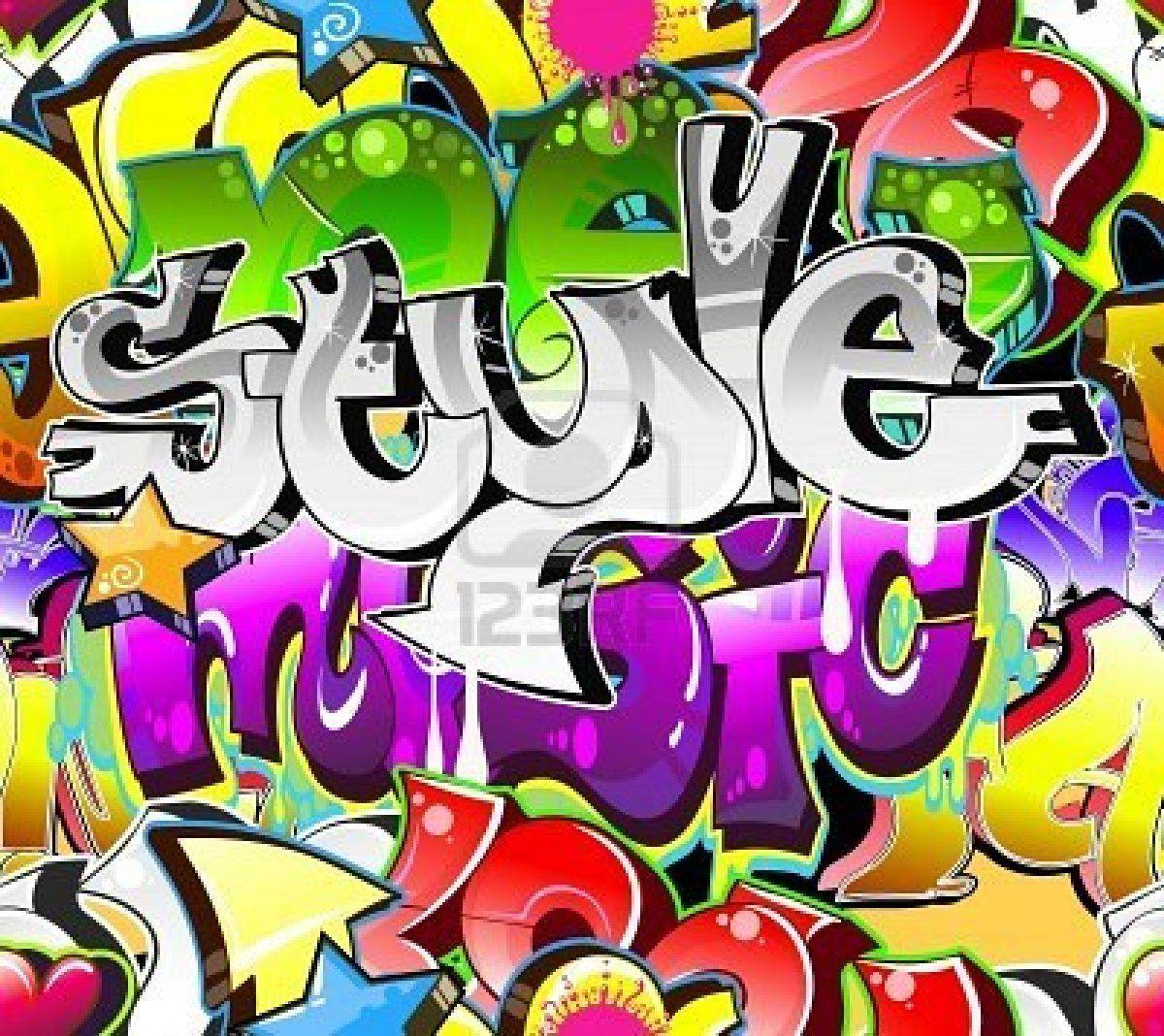 Graffiti art designs - Graffiti Graffiti Urban Art Background Seamless Design Royalty Free Cliparts
