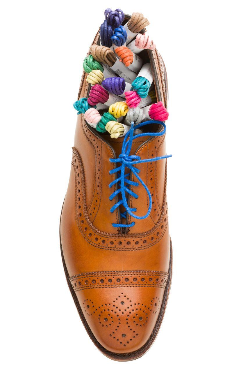 Colored dress shoe shoelaces