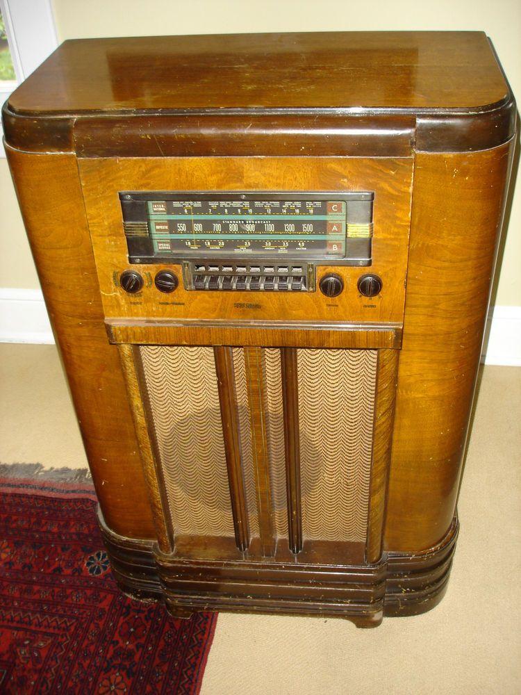 Rca Victor K80 Superheterodyne 3 Band Floor Console Radio Rca