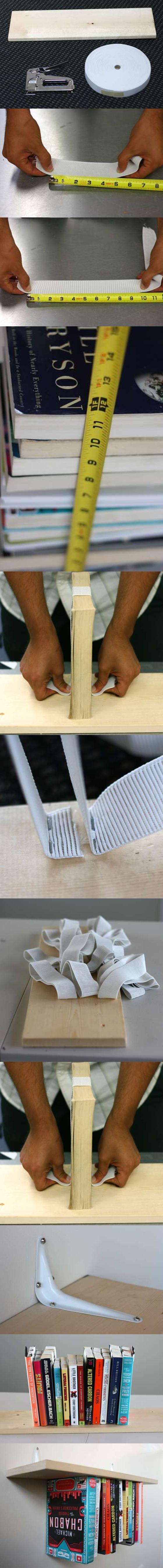 DIY Tutorial To Create An Inverted Bookshelf