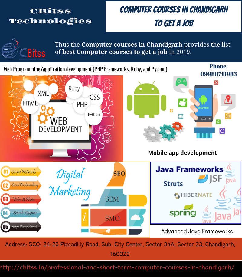 Short term computer courses in Chandigarh App