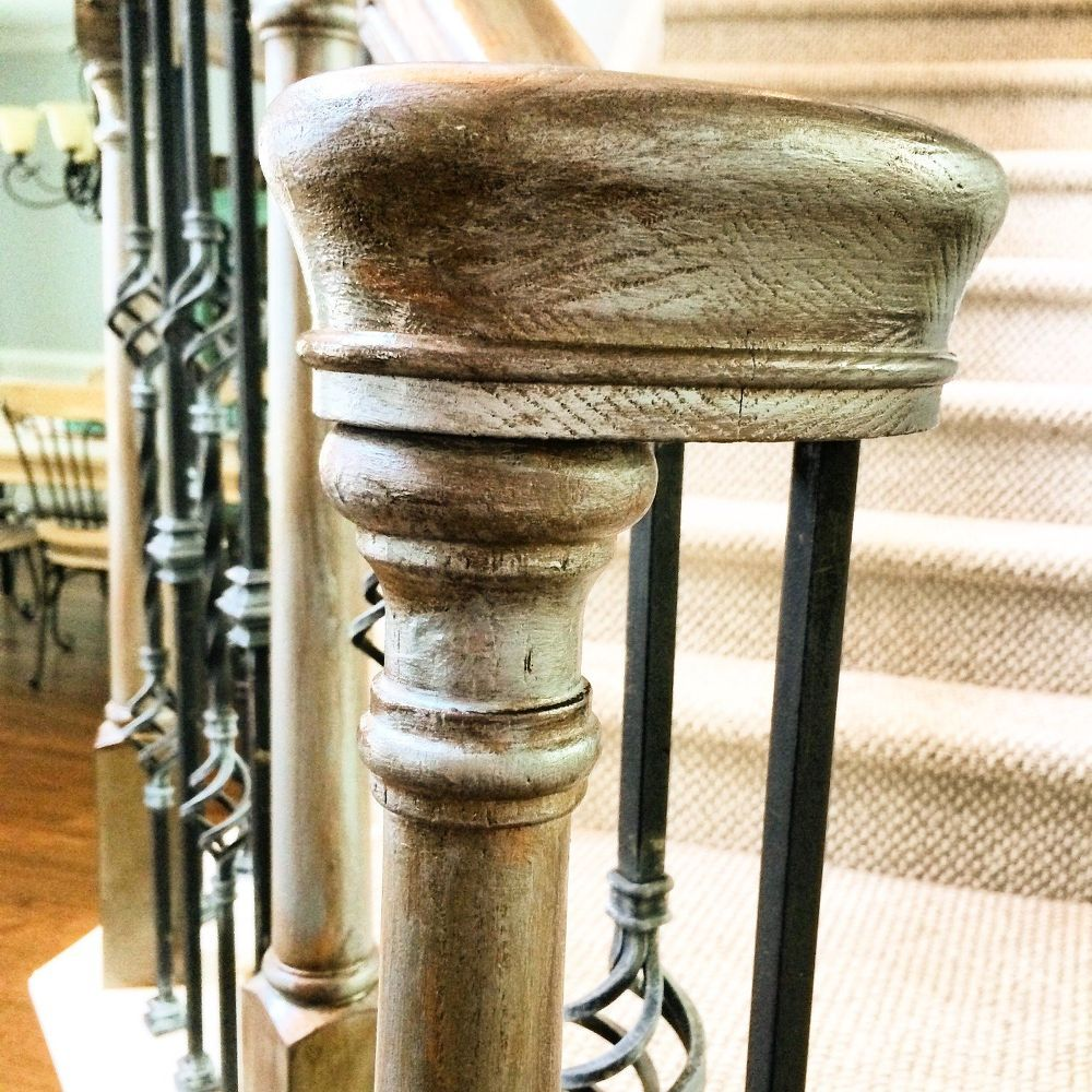 Refinishing Staircase Banisters!! A Complete Makeover ...