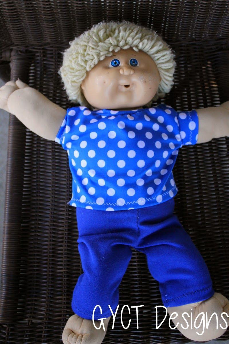 How to Create Cabbage Patch Doll Clothes - Free Pattern | Clothing ...