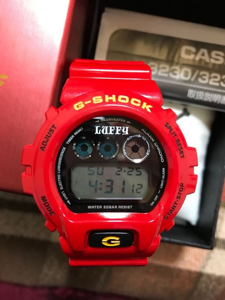 Details about G SHOCK ONE PIECE MONKEY D LUFFY DW 6900FS Red