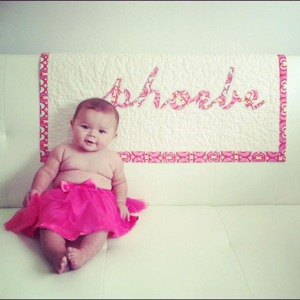 SALE Baby Quilt  Personalized  Name Appliqué  by TracyBugQuilts, $84.10