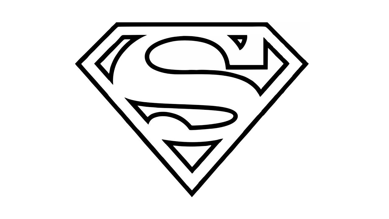 How To Draw The Superman Logo Symbol In 2020 Superman Coloring