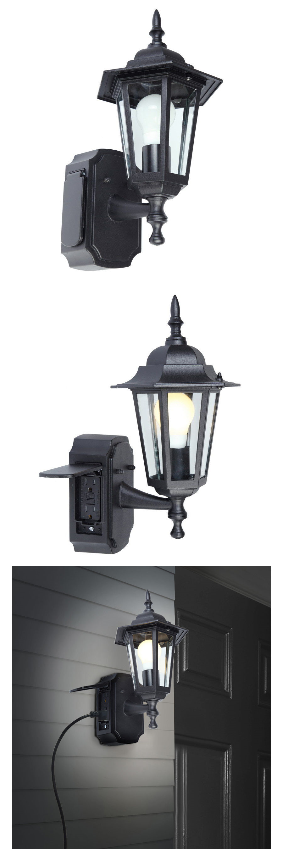 Outdoor Wall And Porch Lights 94939 Outdoor Black Wall Light Fixture Patio Porch Exterior Sconce Lantern Black Wall Lights Porch Lighting Wall Light Fixtures