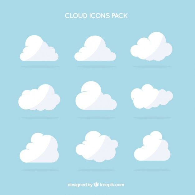 White Cloud Icons Pack Cloud Illustration Cloud Icon Clouds Design