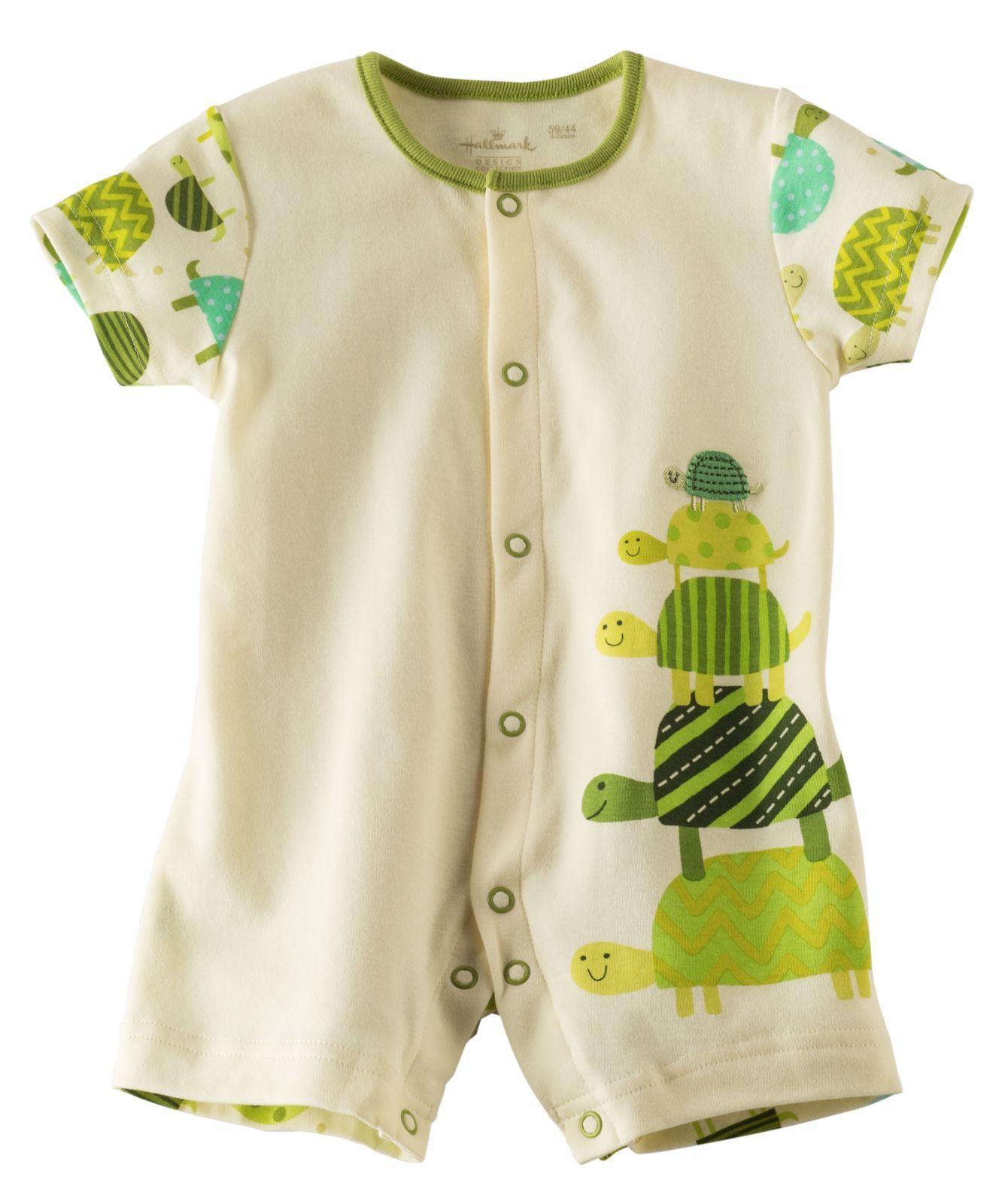 Baby Boy Turtle Stack Romper Hallmark Baby Clothes