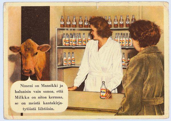 milkkalehmä | Mainosmuseo. Suomalaisen mainonnan historia
