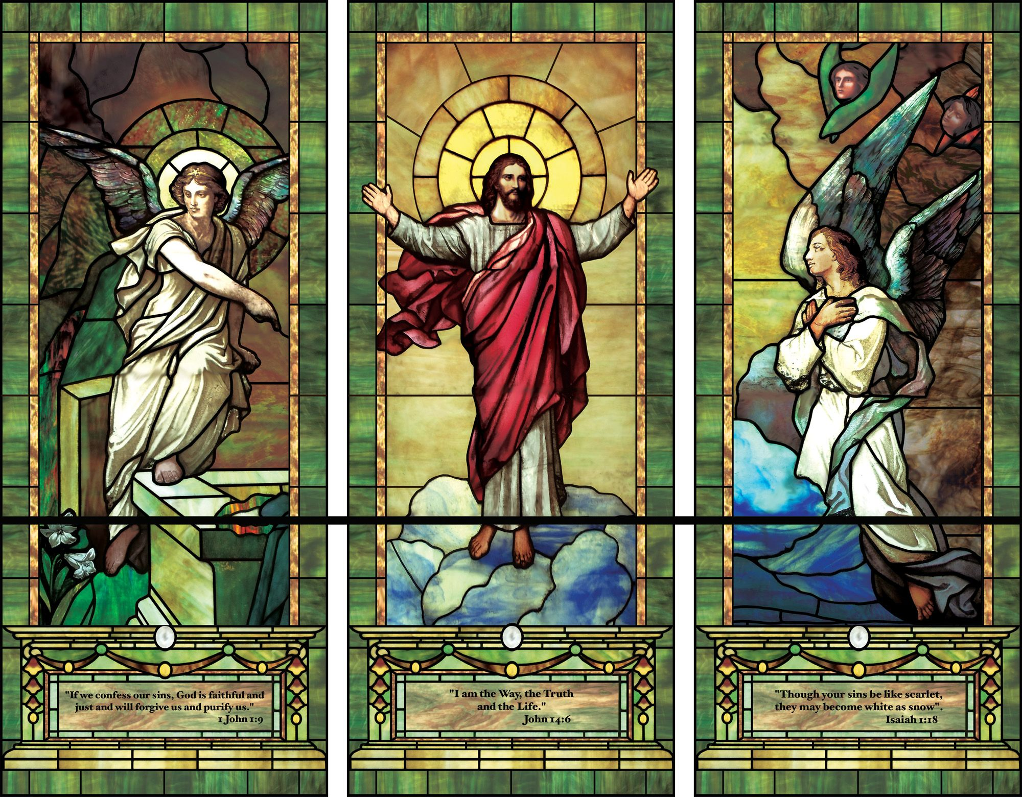 Beach theme decoration stained glass window panels arts crafts - Church Stained Glass Window Patterns Artistic Illuminado Decorative Window Film Designs For Your Church