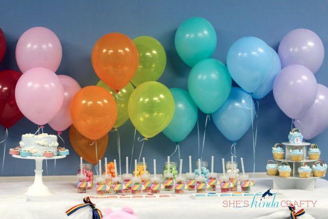 Rainbow Care Bear 5th Birthday #Party via @sheskindscrafty - so many adorable #DIY ideas