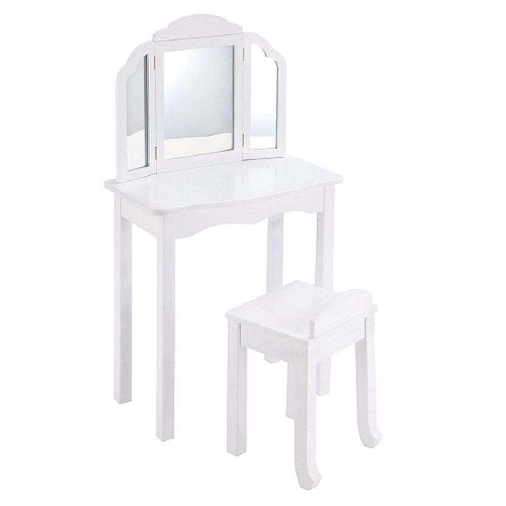 Kids Bedroom Vanity Guidecraft Expressions Vanity Stool White Toys Toys R Us