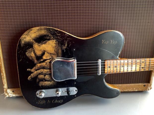 1952fender Telecaster Modified Ultimate Keith Richards Memorabilia Guitar Exchange Reverb Fender Telecaster Keith Richards Telecaster