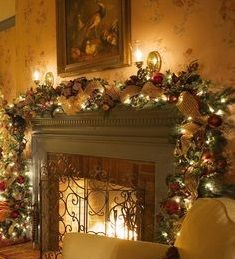 The Christmas Room - Christmas Mantles ? Stunning Christmas Mantle decorating Ideas & Pin by Candace Kirchner on ~Christmas Chimney~ | Pinterest ...