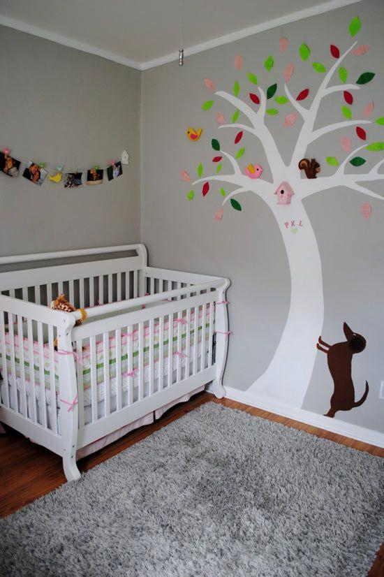 Habitaciones de beb s decoradas con rboles decoideas for Habitaciones decoradas para ninas